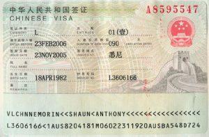 Visa du lịch Trung Quốc 3 tháng 1 lần